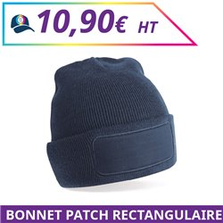 Bonnet patch rectangulaire