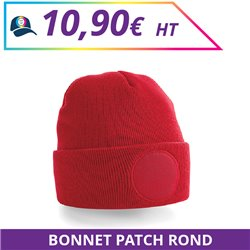 Bonnet patch rond