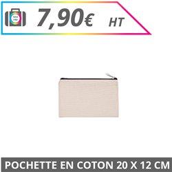 Pochette en coton 20 x 12 cm