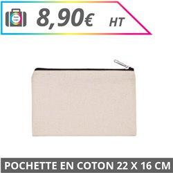 Pochette en coton 22 x 16 cm
