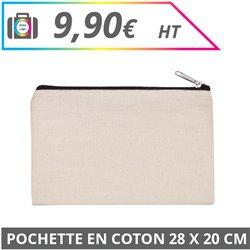 Pochette en coton 28 x 20 cm