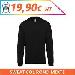 Sweat col rond mixte
