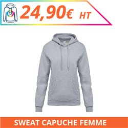 Sweat capuche femme