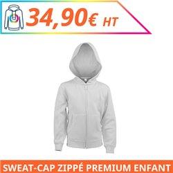 Sweat capuche zippé premium enfant