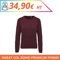 Sweat col rond premium femme