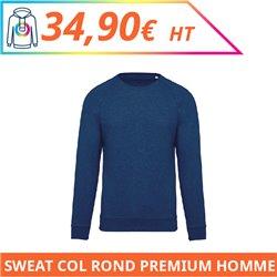 Sweat col rond premium homme
