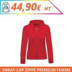 Sweat capuche zippé premium femme