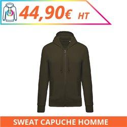 Sweat capuche zippé premium homme - Sweat-shirts à personnaliser - Imprimeur Marseille Textile
