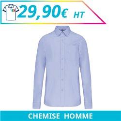 Chemise manches longues homme - Chemises à personnaliser - Imprimeur Marseille Textile