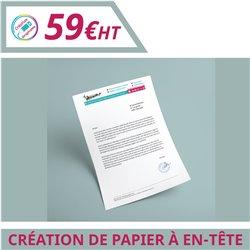 Design de vos papiers à en-tête - Graphisme à personnaliser - Imprimeur Marseille Textile