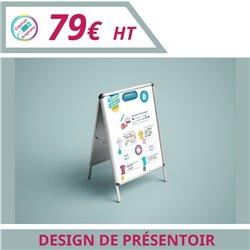 Design de votre présentoir - Graphisme à personnaliser - Imprimeur Marseille Textile