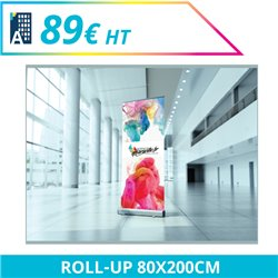 Roll-up 80 x 200 cm - Roll'up à personnaliser - Imprimeur Marseille Textile
