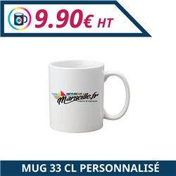 Mug 33 cl personnalisable - Mug à personnaliser - Imprimeur Marseille Textile