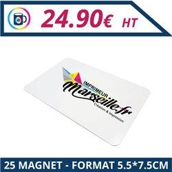 25 Magnets 5,5 x 7,5 cm - Magnet à personnaliser - Imprimeur Marseille Textile