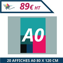 20 Affiches A0 80 x 120 cm - Affiche à personnaliser - Imprimeur Marseille Textile