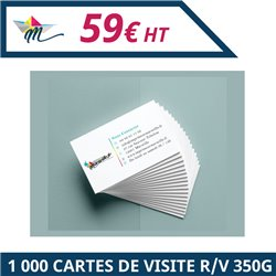 1 000 cartes de visites R/V 350g - Carte de visite à personnaliser - Imprimeur Marseille Textile