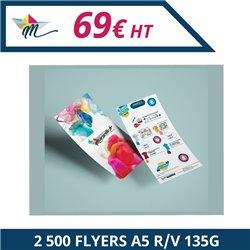 2 500 Flyers A5 R/V 135g - Flyer à personnaliser - Imprimeur Marseille Textile