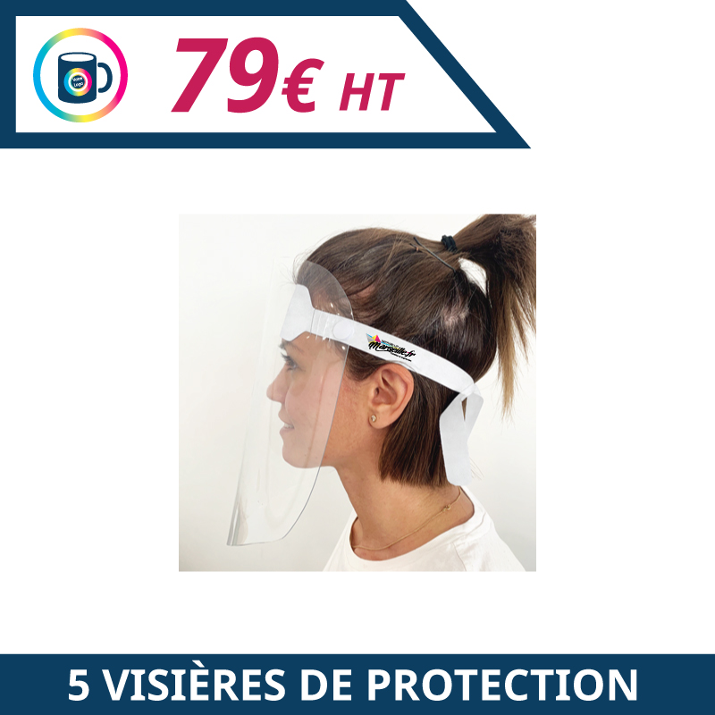 Visière de protection personnalisée