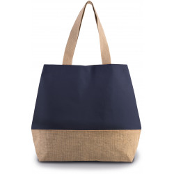 Sac shopping en toiles de coton & jute