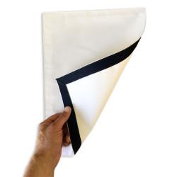 Confection bordure sur module publicitaire 35.50 cm X 42.80 cm