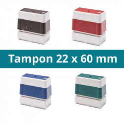 TAMPON 22 X 60 MM PERSONNALISABLE