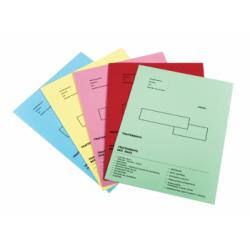 Dossiers administratives couleur 48x32 ouvert 24x32 plié 250g