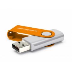 100 Clés USB Grises avec fermeture rotative couleurs au choix