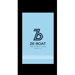 Broderie serviette, logo 22cm, texte 3 ligne 26cm