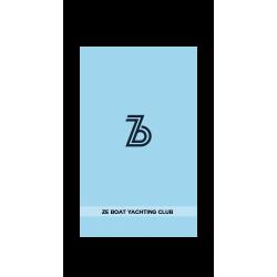 Broderie serviette, logo 16cm, phrase en bas 34cm