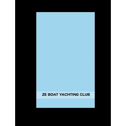 Broderie serviette, texte 34cm
