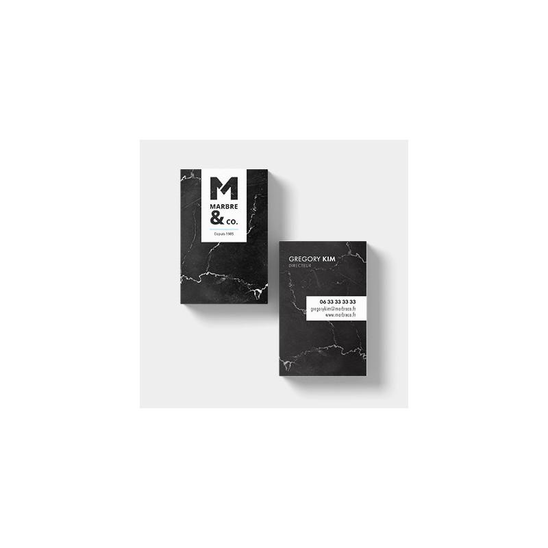 Carte de visite 8,5 x 5,4 cm - Carte de visite à personnaliser - Imprimeur Marseille Textile
