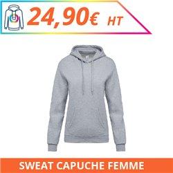 Sweat capuche femme - Sweat-shirts à personnaliser - Imprimeur Marseille Textile
